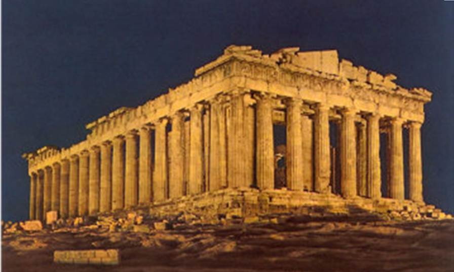 Parthenon at night